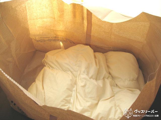 しももとクリーニング布団の梱包