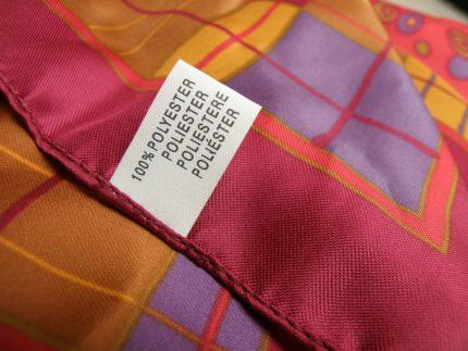 ポリエステルの布
