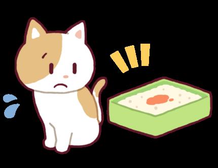 猫の血尿イラスト