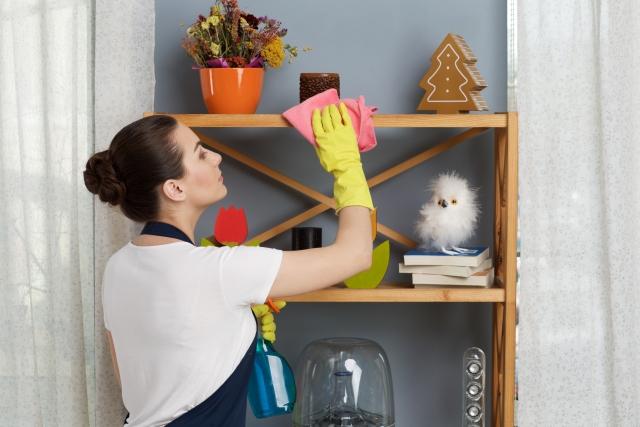 部屋の水ぶき・掃除